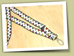 hand beaded lanyards